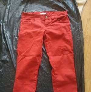 Guess red pleather pants